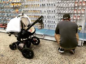 Fishing shopping with Daddy